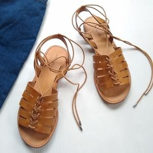 Indigo Rd • faux leather gladiator lace sandals